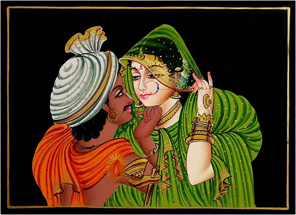 Amazon.com: DollsofIndia Newly Wed Couple - Nirmal Painting on ...