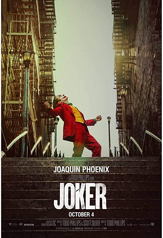 Amazon.com: Movie Poster Joker (2019) Joaquin Phoenix - Officially ...