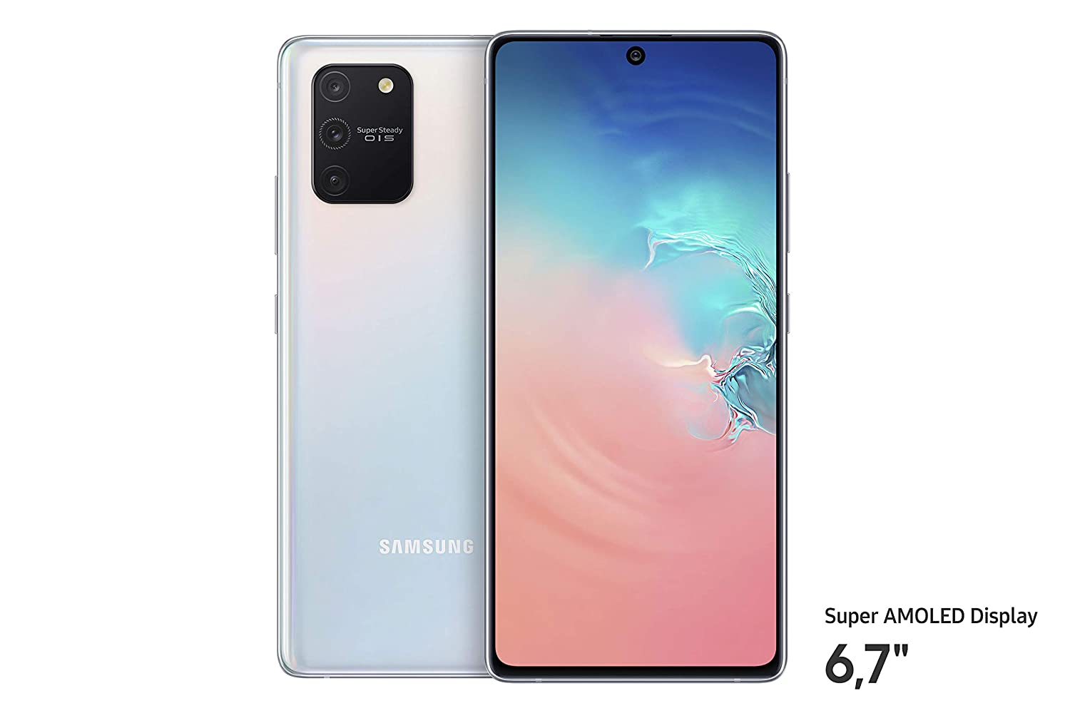 Samsung Galaxy S10 Lite (16.95cm (6.7 Zoll) 128 GB interner Speicher, 8 GB RAM, Dual SIM, Android, prism black) Deutsche Version by Samsung