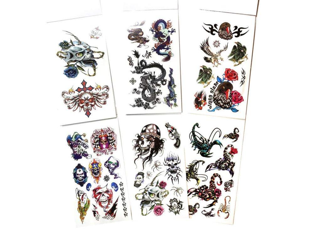Buy Value Plus 6 Packs Temporary Tattoo Book Cool Animals Tattoos