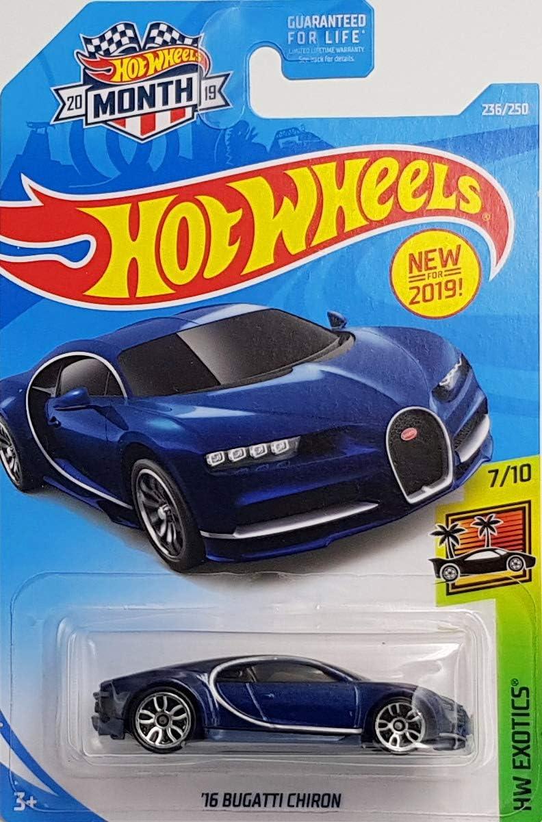 Amazon Com Hot Wheels 2019 Hw Exotics 16 Bugatti Chiron Blue 236 250 Toys Games