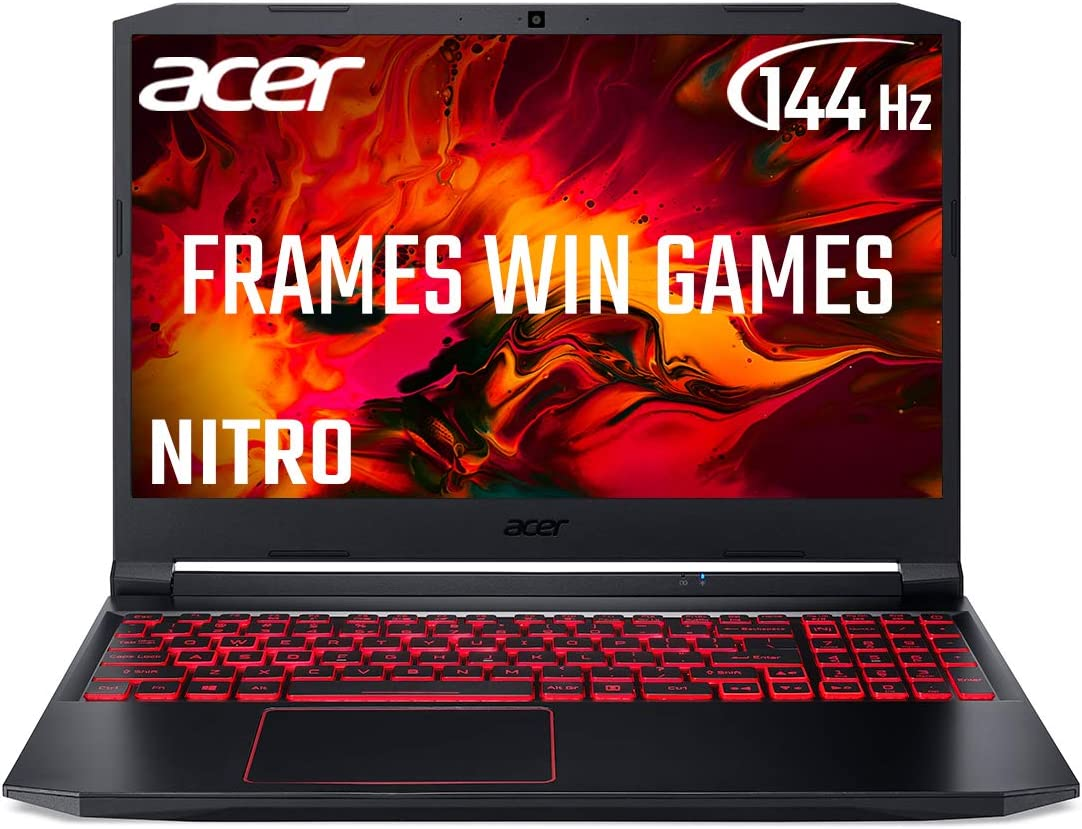 Acer Nitro 5 AN515-44 15.6 Inch Gaming Laptop (AMD Ryzen 5 4600H Mobile Processor, 8 GB RAM, 512 GB SSD, NVIDIA GTX 1650, Full HD 144Hz Display, Windows 10, Black)