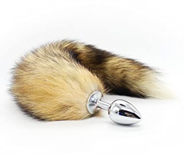 Akstore Medium Stainless Steel Anal Plug With Soft Wild Fox Tail Plug Butt Sex Toys Butt