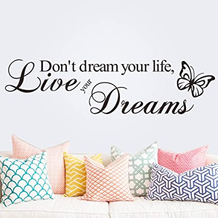 Sogno Inglese Motto Wall Stickers Per Camera Da Letto