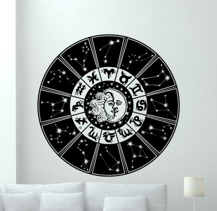 This astrology wall decal makes the coolest Christmas gift!