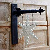 K Interiors Antiqued White Snowflake Hanging Winter Replacement Plaque For Arrow Holder