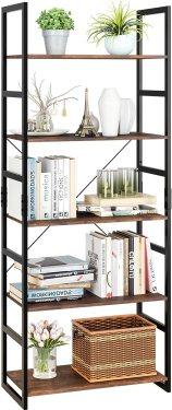 Homfa 5 Tier Bookshelf