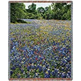 Pure Country Inc. Bluebonnets Blanket Tapestry Throw