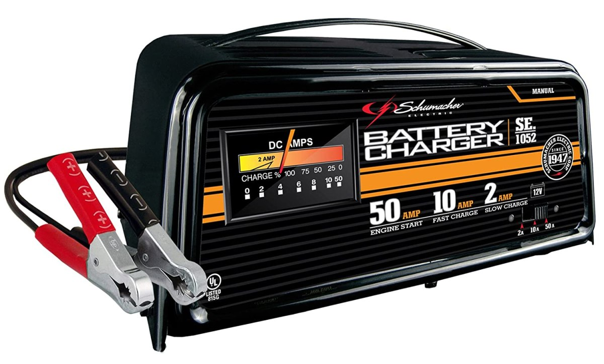 Best ATV Battery Charger Schumacher SE-1052 50/10/2 Amp Manual Starter/Charger