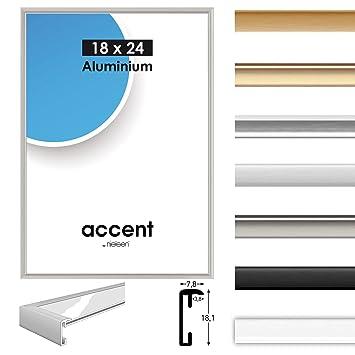 Alurahmen Accent Wechselrahmen Alubilderrahmen Alu Farbe Silber Matt 30x40 Cm