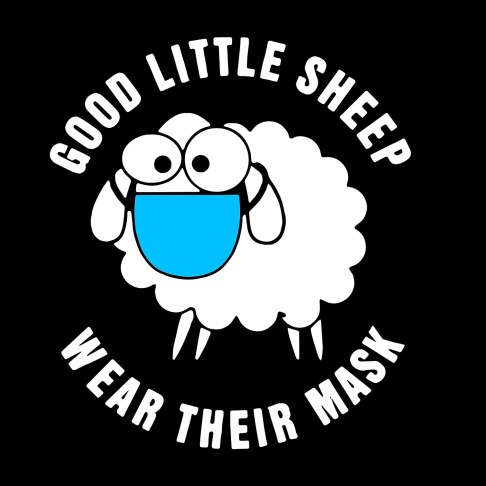 "Amazon.com: Good Little Sheep Wear Their Mask Decal diecut 6"" x 4.5"" Coronavirus Covid-19 Covid19: Handmade"