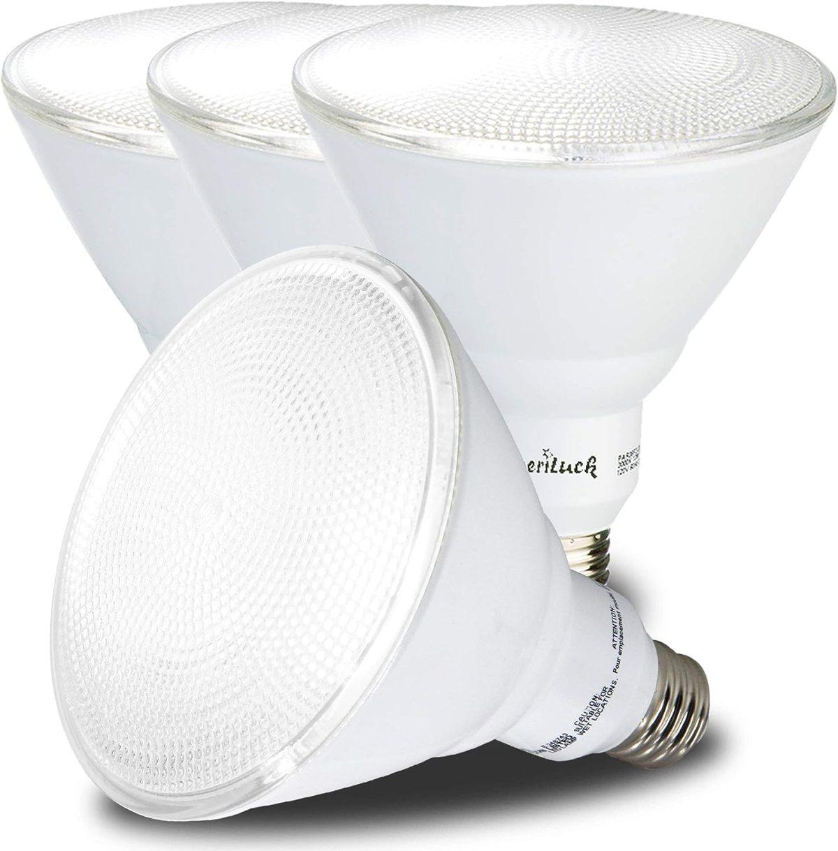AmeriLuck 5000K Daylight Outdoor PAR38 LED Flood Light Bulb