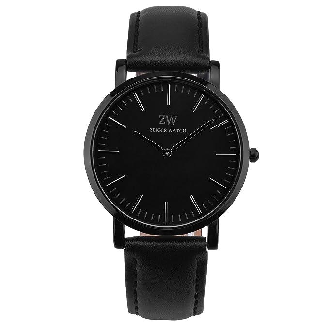 Reloj de correa de piel, color negrohttps://amzn.to/2C4SSwH