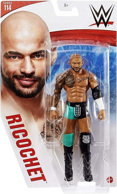 Amazon Com Ricochet Green Gear Wwe Series 114 Mattel Toy Wrestling Action Figure Toys Games