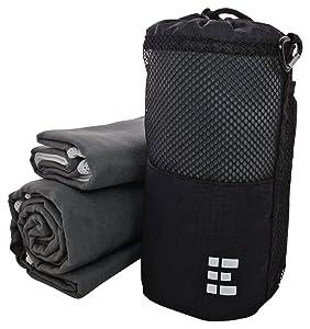 Zero Grid Microfiber Travel Towel Set