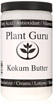 Kokum Butter Refined Raw 1 Lb (16 Oz) (HDPE Food Grade Jar)