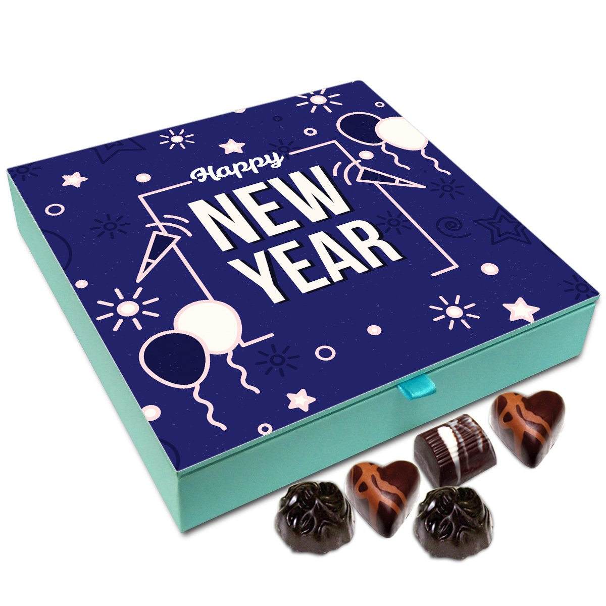 Chocholik New Year Gift Box – Happy New Year to All Chocolate Box – 9pc