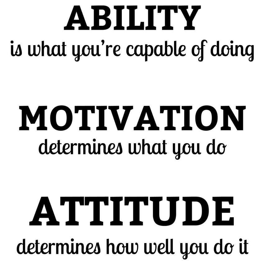 Ability Motivation Attitude