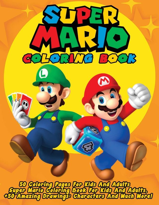 Super Mario Coloring Book: 24 Coloring Pages For Kids And Adults