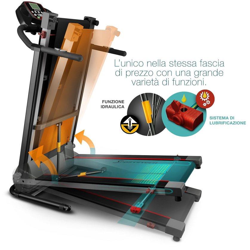 Fitfiu MC-100 - Cinta de correr plegable, color negro, 900 W