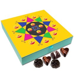 Chocholik Diwali Gift – Have A Diwali Full of Sweets and Crackers Chocolate Box – 9pc