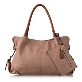 AB Earth 3 Pieces Women Hobo Handbag PU Leather Totes Matching Wallet Satchel Shoulder Bag, M898 (Taupe)