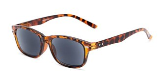 Readers.com | The Key West Reading Sunglasses +2.50 Tortoise with Smoke Retro Square Stylish Men's & Women's Full Frame