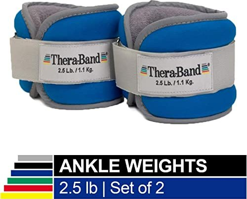 TheraBand Comfort Ankle and Wrist Cuff Wrap Walking Weights Set