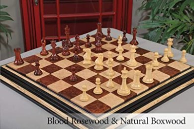 """The Camaratta Collection - The 1849 Collector Series Luxury Chess Set - Pieces Only - 4.4"""" King"""
