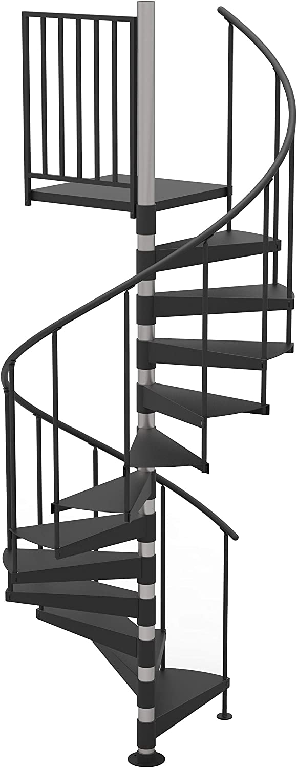 42 Diameter Non Code Spiral Stair Kit Primed Steel 85 95   Salter Spiral Stair Cost   Stair Railing   Deck Railing   Stair Case   Solid Wood   Collegeville Pa