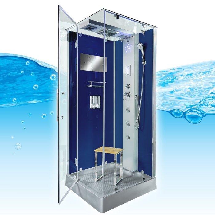 AcquaVapore DTP6038-8200R Dusche Duschtempel Komplett Duschkabine 80x80, EasyClean Versiegelung der Scheiben:2K Scheiben Versiegelung +99.-EUR