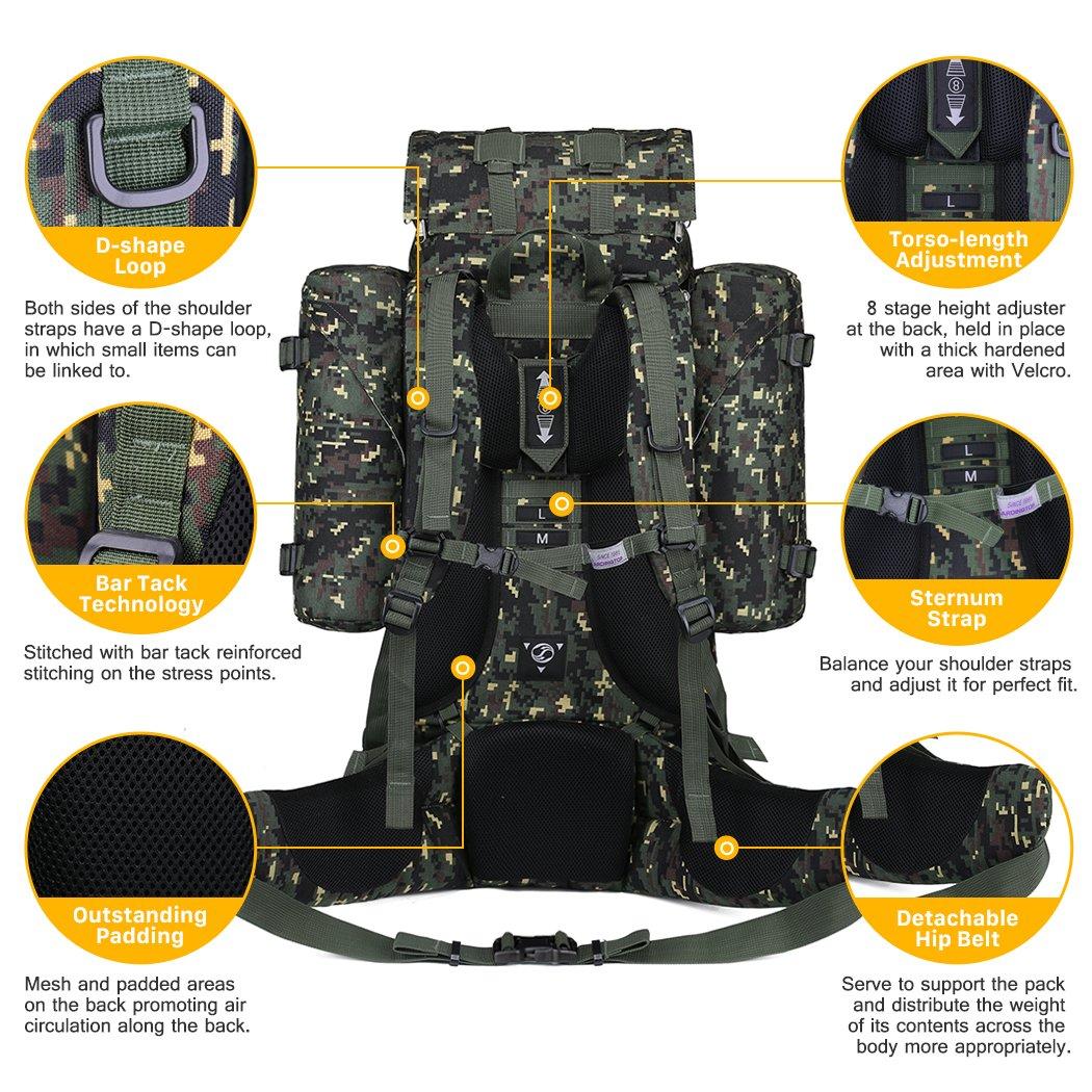 Mardingtop 65L Internal Frame Backpack