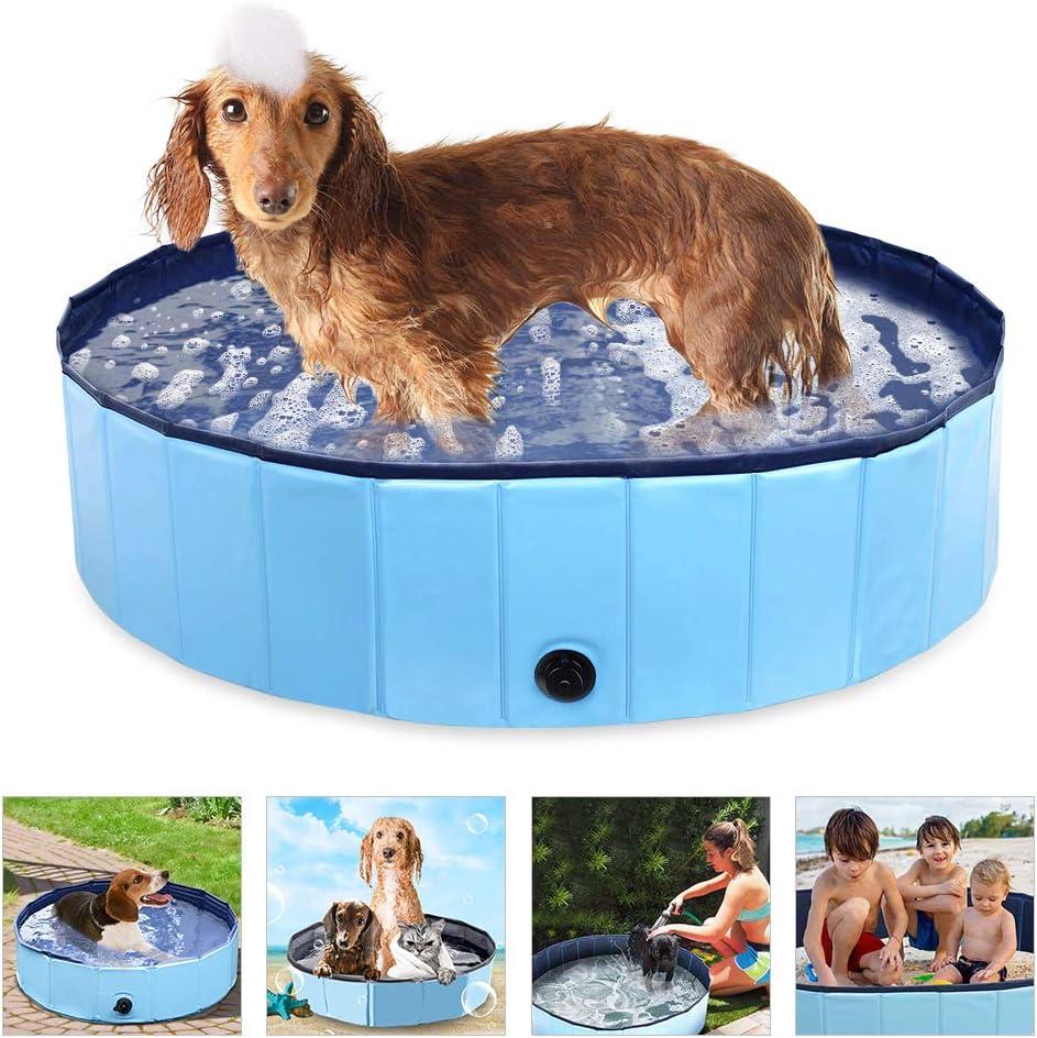 Piscina para Perros, Bañera Plegable para Mascotas