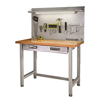 Seville Classics (UHD20247B) UltraHD Lighted Workbench (48L x 24W x 65.5H Inches) Stainless Steel review