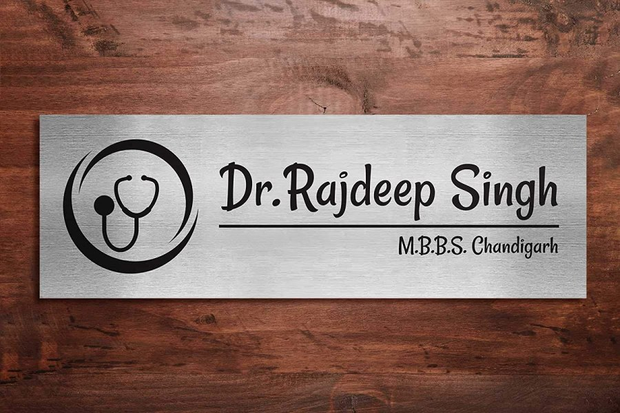 Buy Generic Ss Name Plate 4 X 12 Inches Customized Online