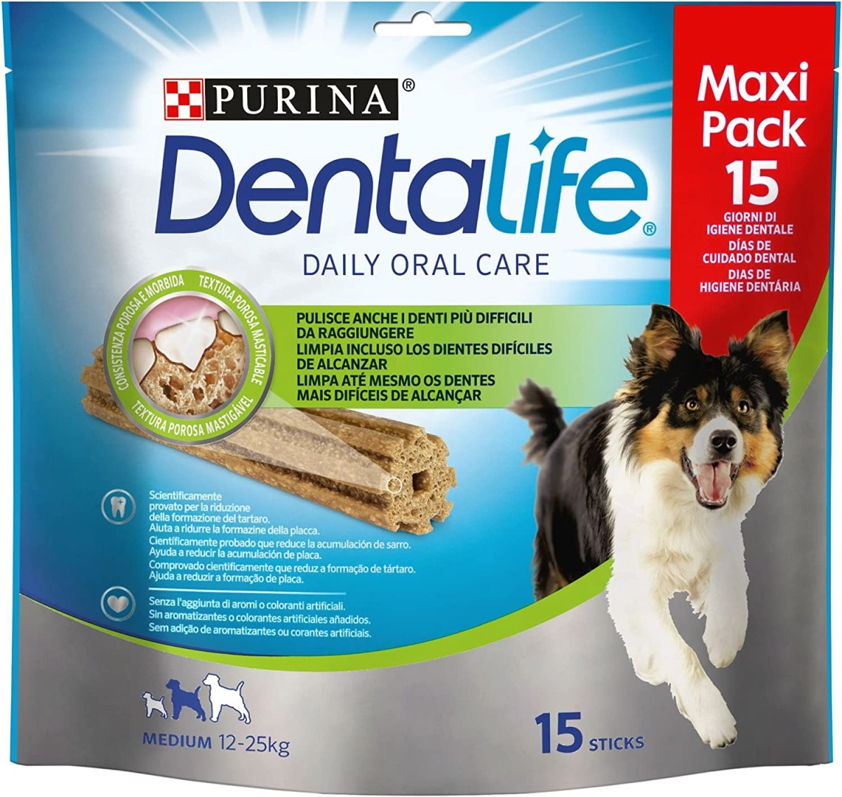 Purina Dentalife, Medium Loyalty, Pack 345g [Pack de 5] - Total: 1.725 Kg
