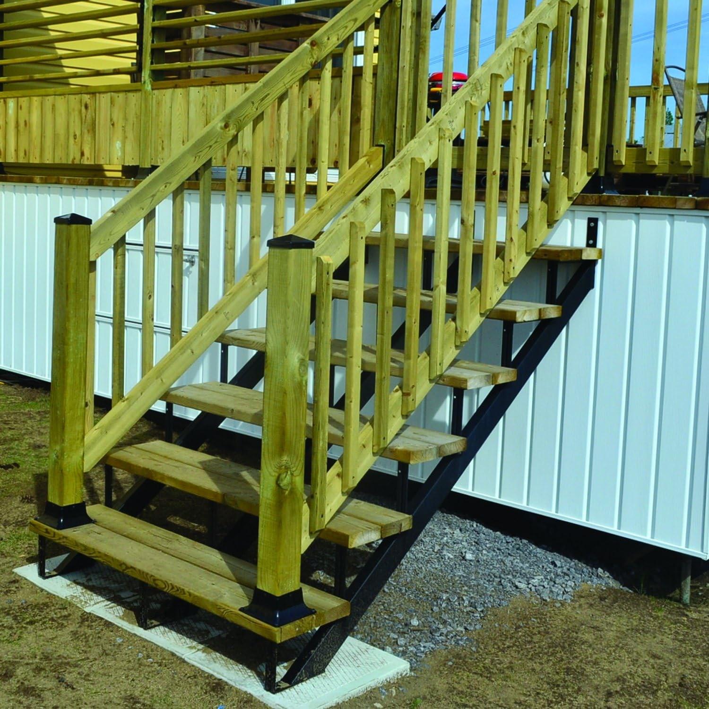 Pylex 13902 Riser 2 Steps Steel Stair Stringers Black Pipe   Non Slip Stair Treads Menards   Rebate   Treads Lowes   Outdoor Stair   Wood   Royal Oak