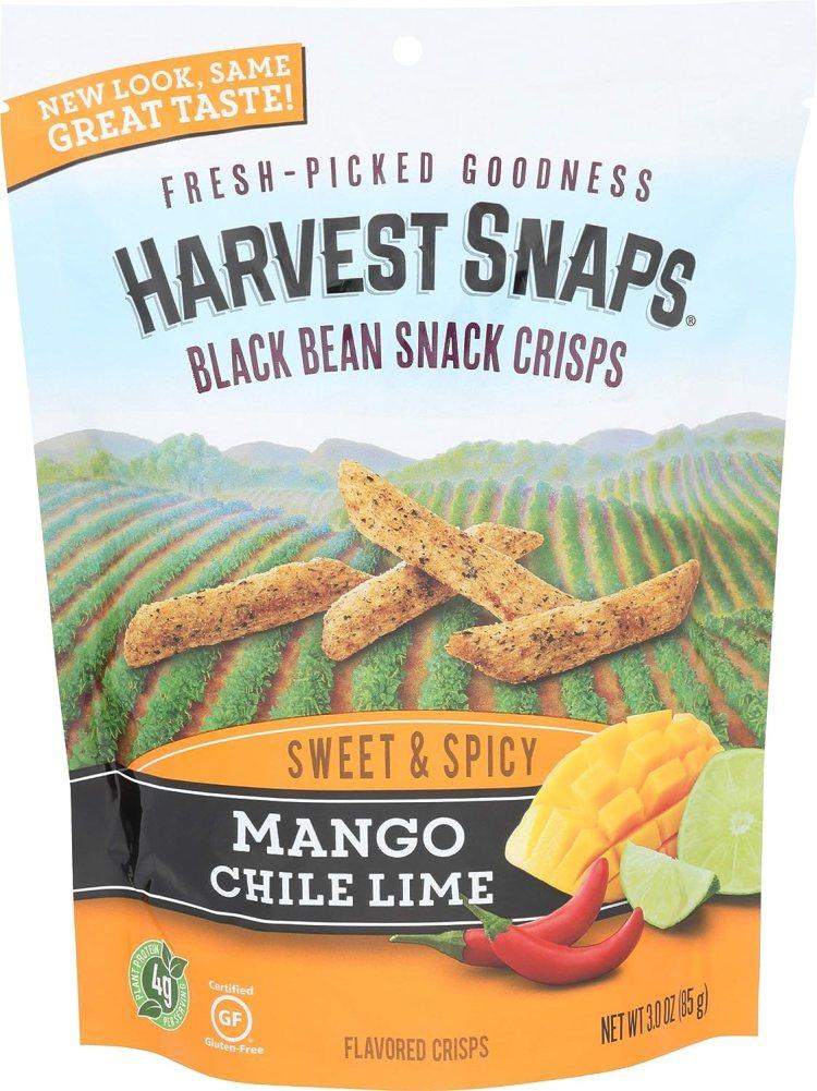 Harvest Snaps Mango Chile Lime Black Bean Snack Crisps
