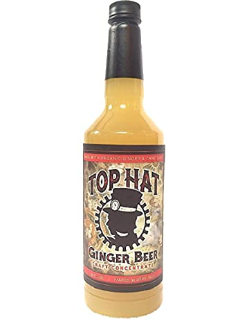 Top Hat Craft Ginger Beer Syrup - 32oz btl - Soda Stream Flavor Syrups (Makes 32 Moscow Mules)