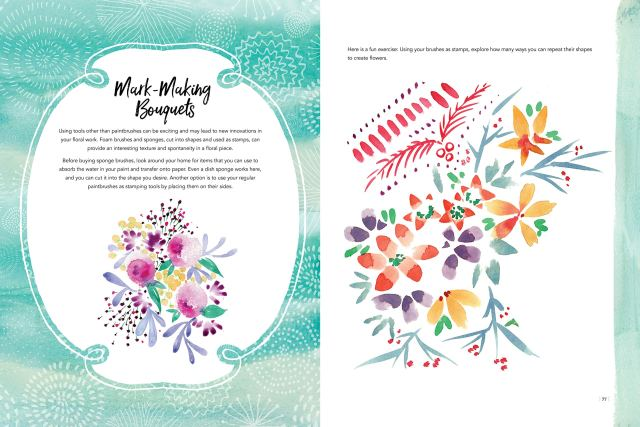 Colorways: Watercolor Flowers Book Review 3