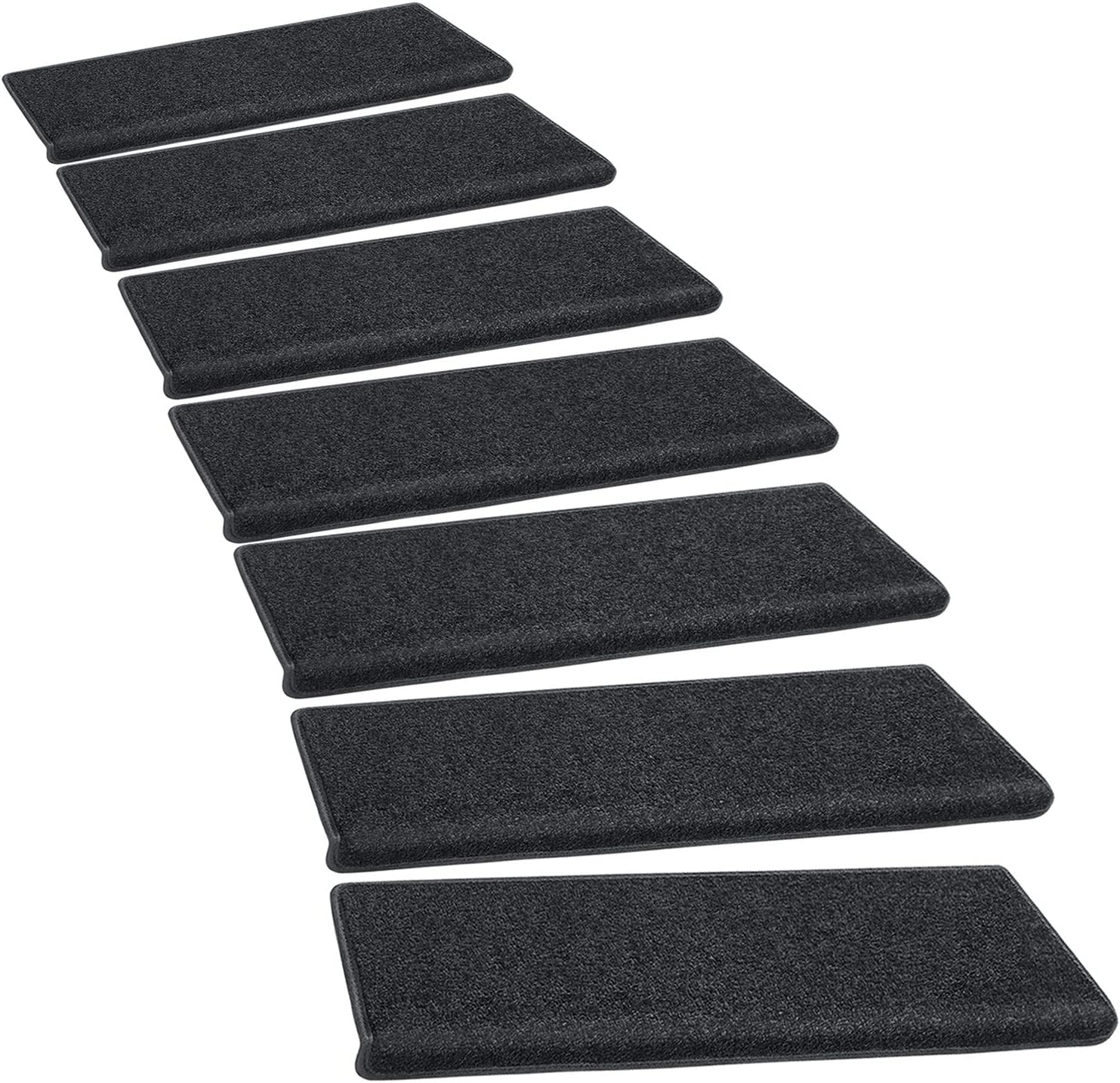 Amazon Com Pure Era Carpet Stair Treads Set Of 14 Non Slip Self   Black And White Carpet Stairs   Victorian   Striped   Geometric   Low Cost Simple   Unusual
