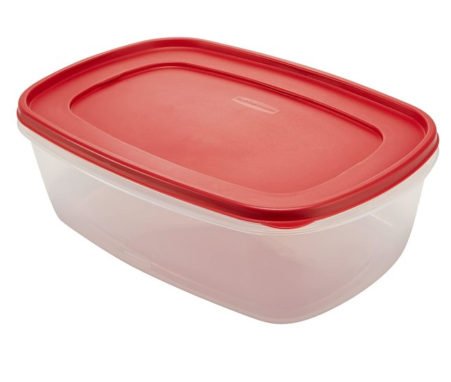 Amazon Com Rubbermaid Easy Find Lids Food Storage Container 2 5 Gallon Racer Red 1777164 Food Savers Kitchen Dining