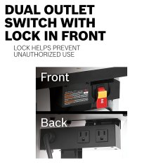 Dual Outlet Switch with Lock