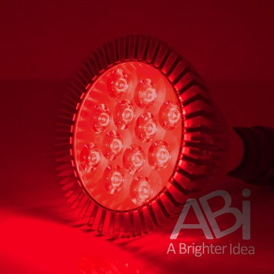 ABI 12 watt deep red LED bloom booster grow light bulb