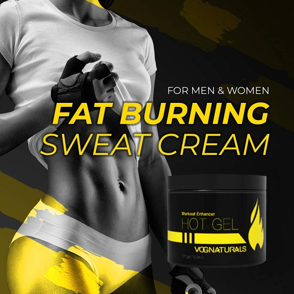 Vog Naturals Hot Gel Workout Enhancer - Fat Burning Sweat Cream for Men & Women