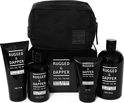 rugged and dapper grooming kit for men, pamper yourself