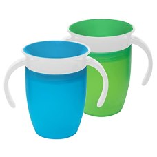 Munchkin Miracle 360 Trainer Cup, Green/Blue, 7 Ounce, 2 Count