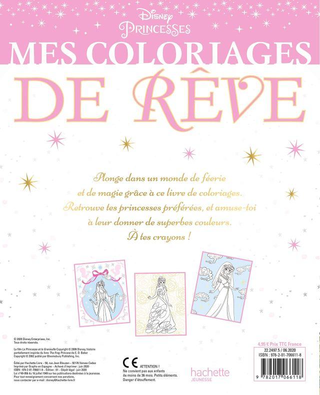 DISNEY PRINCESSES - Mes Coloriages de Rêve - Bal masqué : Disney