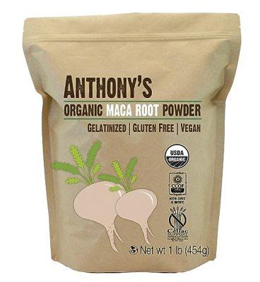 Anthony's Organic Maca Root Powder Gelatinized (1lb), Gluten-Free, Non-GMO