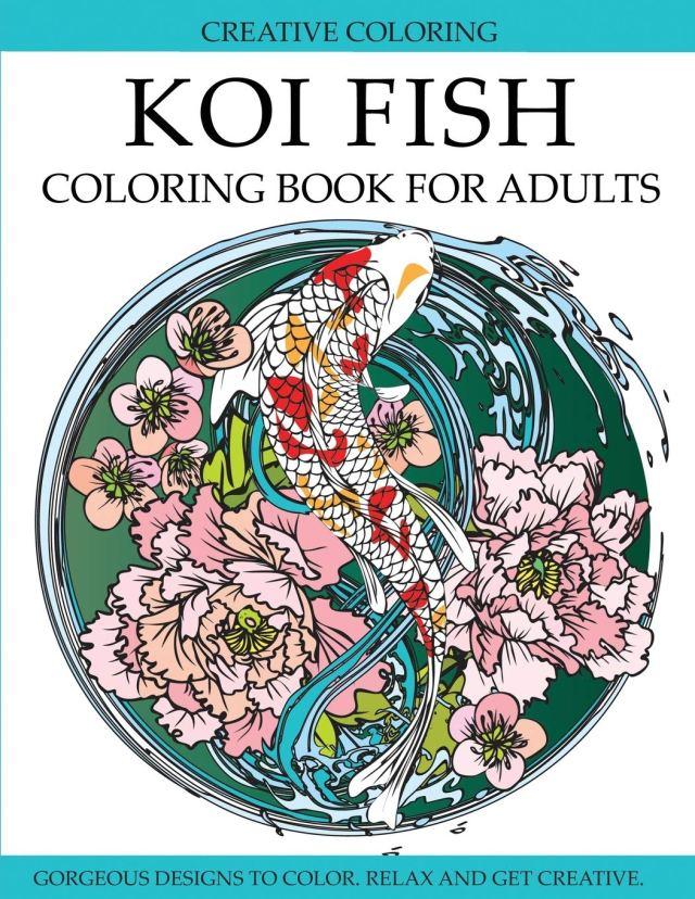 Amazon.com: Koi Fish Coloring Book for Adults: Gorgeous Koi Fish